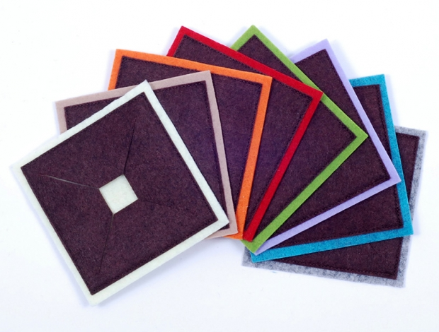 Pohárjelölő - négyzet barna