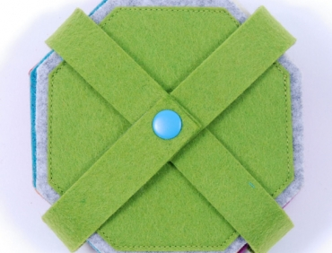 Pohárjelölő - Nyolcszög zöld