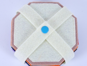 Pohárjelölő - Nyolcszög fehér